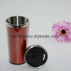 450ml double wall paper inserted promotion travel mug Made in china