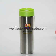 Double wall 14 oz stainless steel promotional travel mugs