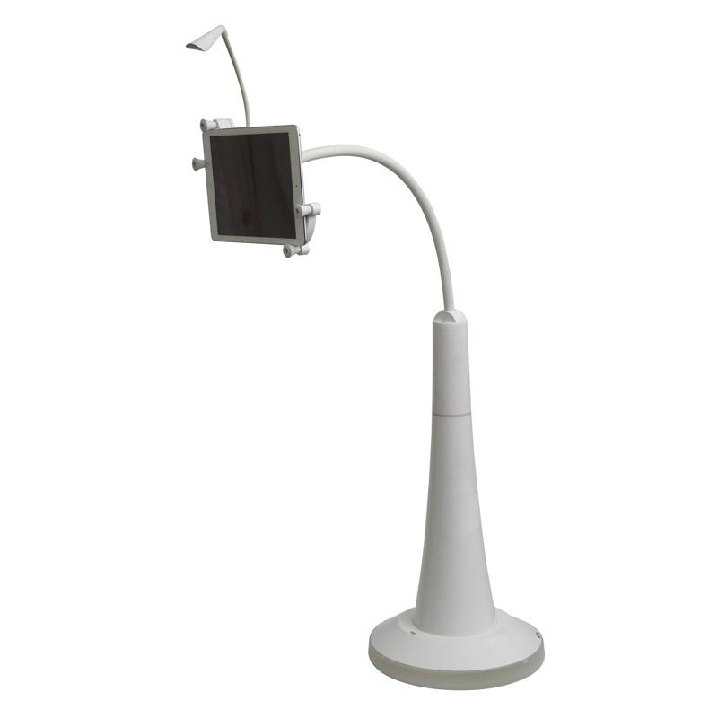 Tablet Floor Stand with Small Lamp  1
