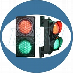 100mm Red  green LED traffic light with cobweb lens
