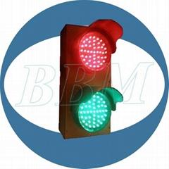 100mm red green caution traffic light
