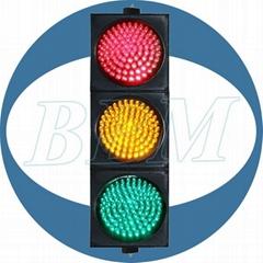 road crossing traffic light red green 200mm