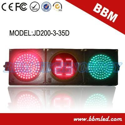 200mm red green ball road traffic light timer 1