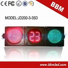 200mm red green ball road traffic light timer