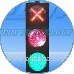 Ball and cross 8 inch arrow traffic light