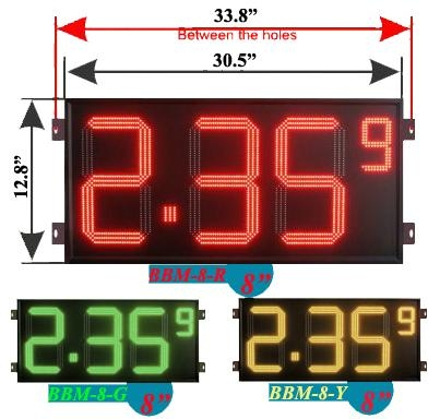8 inch digital gas price led sign 1