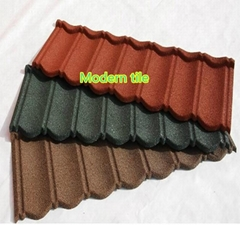 High quality assured stone coated metal roofing tiles