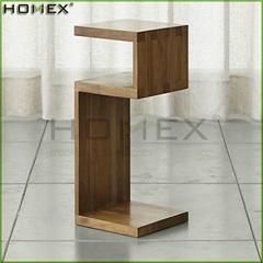 Single Cube Shelf Wooden Side Table Homex_BSCI