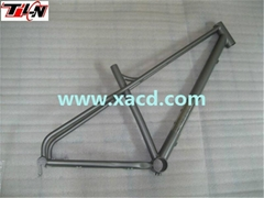 specialized titanium MTB bicycle frame with couple toptube manufacturer custom