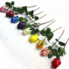 Home Decoration PU Hand-Feeling Rose Artificial Flowers