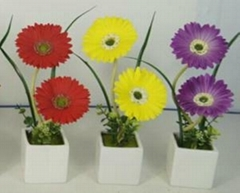 Promotional Gift for LED Artificial Flowers with Ceramics Pot
