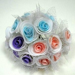 High Quality Spring Colorful Handmade Foam Flowers Bunch Artificial Flowers
