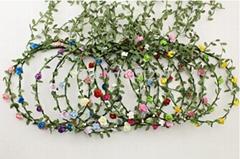 Boho Girl Paper Flower Festival Wedding Garland Forehead Hair Head Band headband