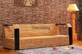 感享 客廳傢具藤沙發茶几組合四件套 新古典沙發木扶手藤編椅 4
