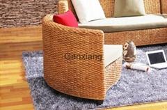 感享 藤家具藤沙发床 组合客厅沙发藤制沙发椅 创意休闲沙发