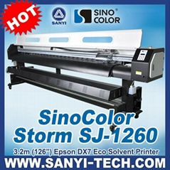 3.2M SinoColor SJ-1260 Poster Printer with Epson DX7 Micro-Piezo Head
