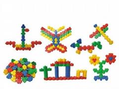 Plastic building block toys