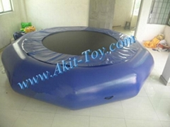 Water park equipment 15ft blue inflatable water trampoline