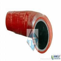 70 Degree 90 Degree Alumina Ceramic Elbow for  Mining Industry