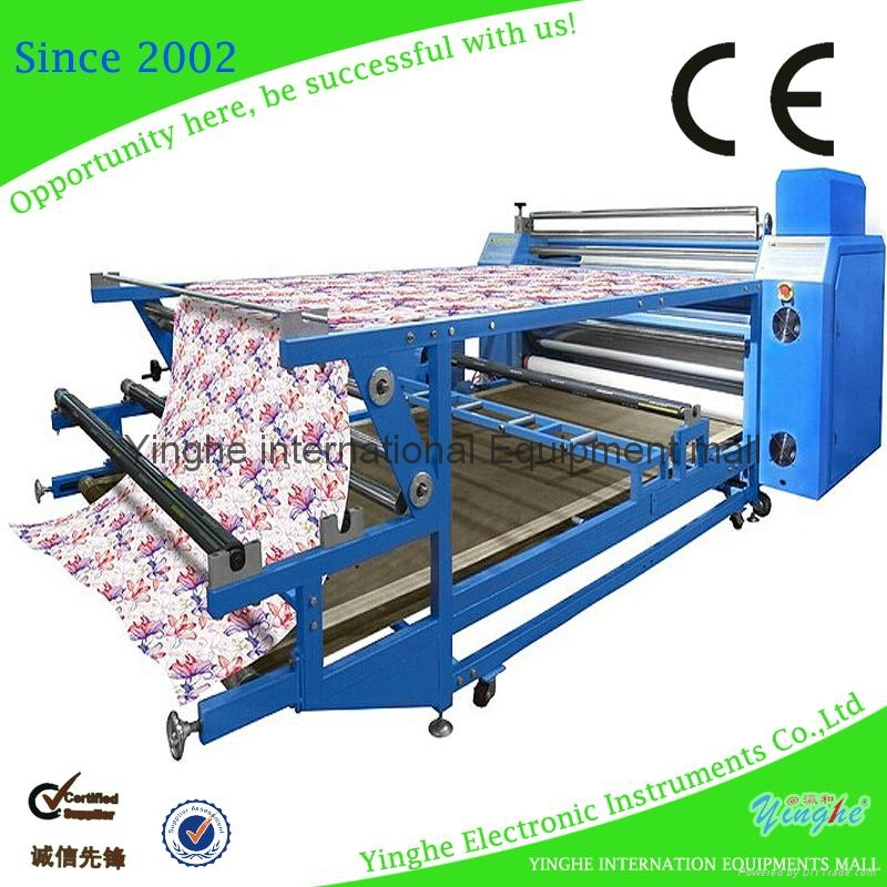 Roller heat transfer machine for fabric 1
