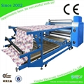Roller heat transfer machine for fabric