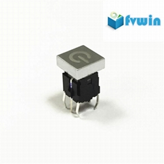 LED Illuminated Tactile Push Button Switch with tact cap