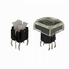 LED tact push button switch for audio equipments