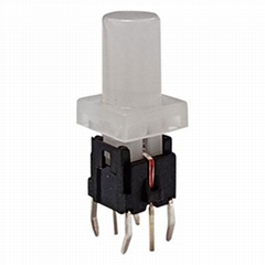 DIP Illuminated 6*6 Tact Switch With Red LED Button