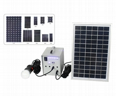 small solar system for lighting 10w