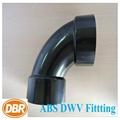 abs dwv fittings DBR#2877 90deg elbow 2inch 2