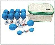 Classic Si  er HACI Suction Cupping Set - 12 Cups