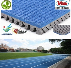IAAF outdoor playground rubber floor mat