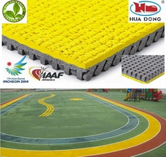 IAAF athletic rubber flooring track