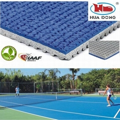 all weather outdoor badminton rubber floor mat