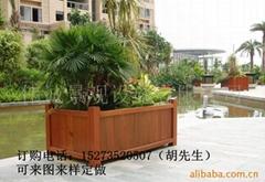 步行街座椅實木景觀花箱