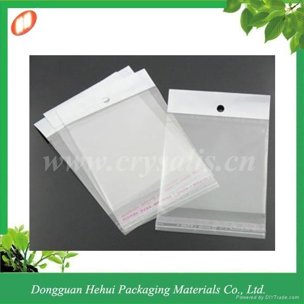 Custom plastic OPP self adhesive header bag 3