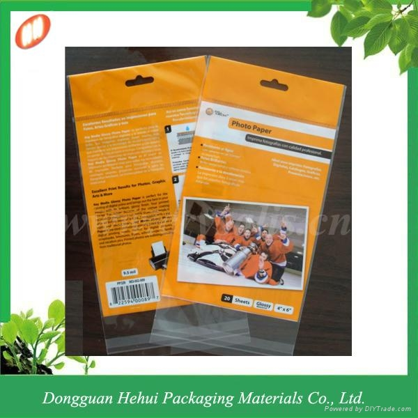 Custom plastic OPP self adhesive header bag 4