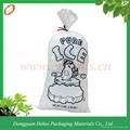 Hot sale plastic printed PE ice bag