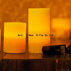 Hot Sale Remote Control Rechargeable Flameless Wax Led Candle Set of 3