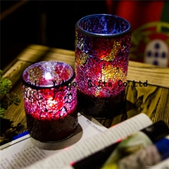 Spring glass candle holder decoration,hanging glass votive candle holders