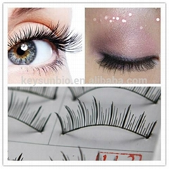 OEM traditional hand made human hair flase eyelash