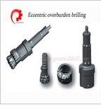 Eccentric overburden drilling tools