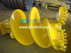 Kimdrill double-head double-spiral rock drilling auger