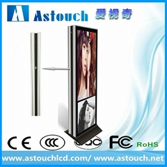 55 inch and 70 inch floor standing advertising player