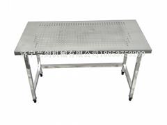 不锈钢打孔货架桌子操作台