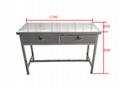 不鏽鋼抽屜桌工作台