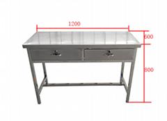 不锈钢抽屉桌工作台