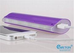 Li-ion High Capacity Power Bank 12000 mah With 8 LED Lantern For Outdoor Lightin