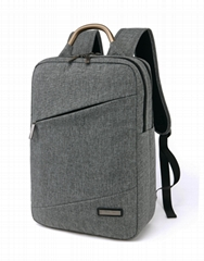 China Wholesale Laptop backpacks nylon waterproof computer bags size 16 grey