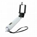Adjustable focus selfie stick monopod
